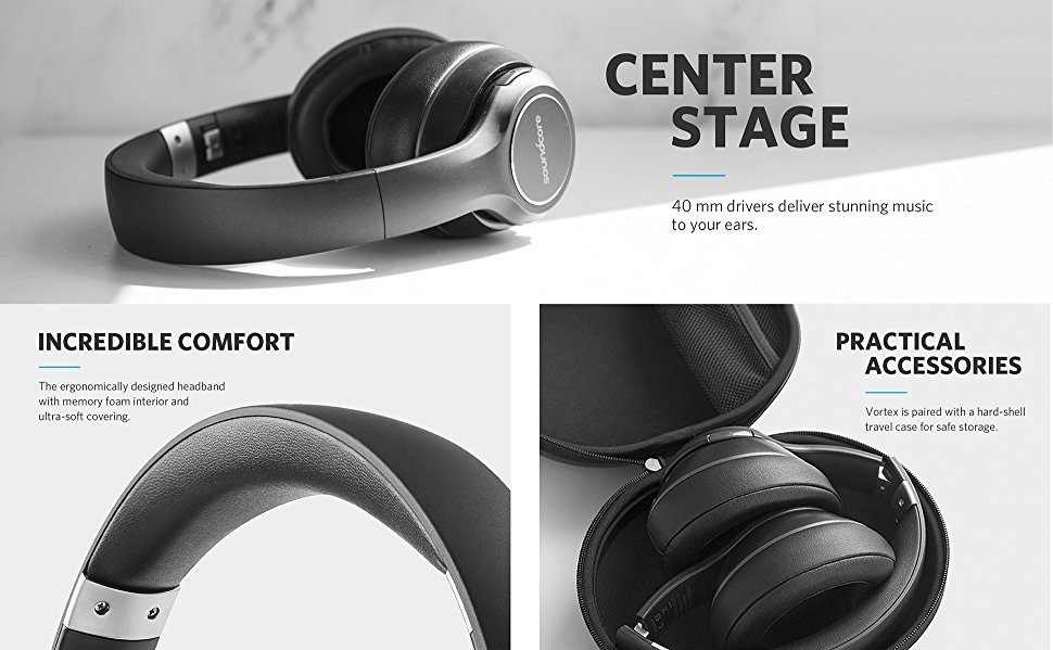 dd85ff419dc Soundcore Vortex The Over-Ear Headphones with Rich Sound and Enhanced  Comfort