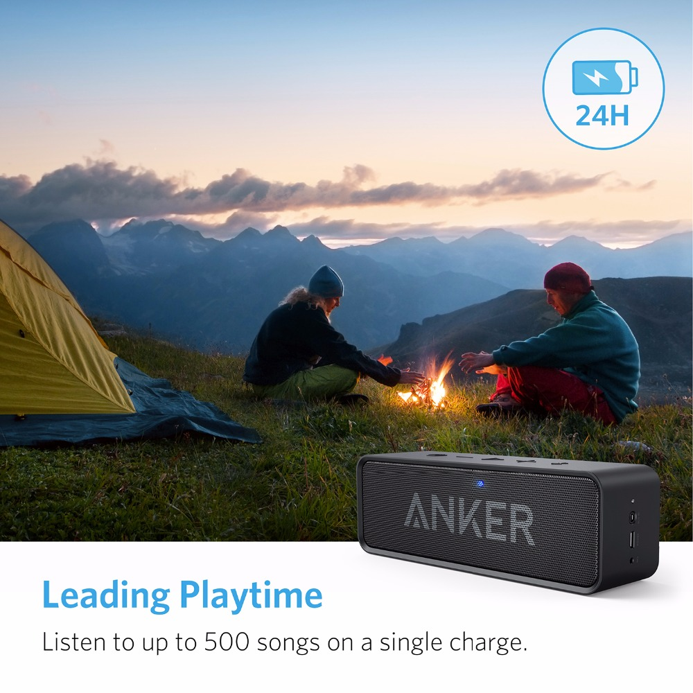 ANKER SoundCore Portable Bluetooth 4.0 Stereo Speaker With 24-Hour Playtime NEW